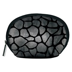 Skin1 Black Marble & Gray Metal 1 Accessory Pouches (medium)