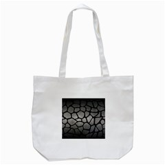Skin1 Black Marble & Gray Metal 1 Tote Bag (white)