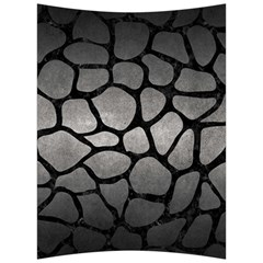 Skin1 Black Marble & Gray Metal 1 Back Support Cushion