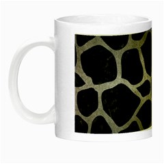 Skin1 Black Marble & Gray Metal 1 (r) Night Luminous Mugs