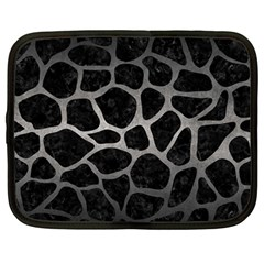 Skin1 Black Marble & Gray Metal 1 (r) Netbook Case (large)