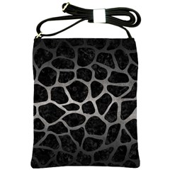 Skin1 Black Marble & Gray Metal 1 (r) Shoulder Sling Bags