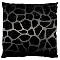Skin1 Black Marble & Gray Metal 1 (r) Large Cushion Case (one Side)