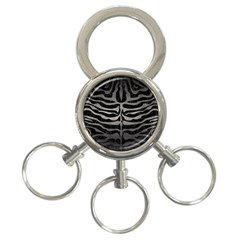Skin2 Black Marble & Gray Metal 1 3 Ring Key Chains