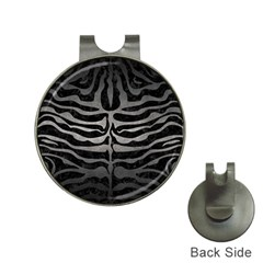 Skin2 Black Marble & Gray Metal 1 Hat Clips With Golf Markers