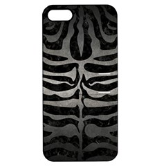 Skin2 Black Marble & Gray Metal 1 Apple Iphone 5 Hardshell Case With Stand