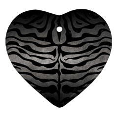 Skin2 Black Marble & Gray Metal 1 (r) Ornament (heart)