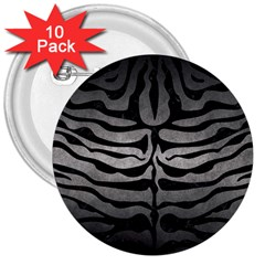 Skin2 Black Marble & Gray Metal 1 (r) 3  Buttons (10 Pack)