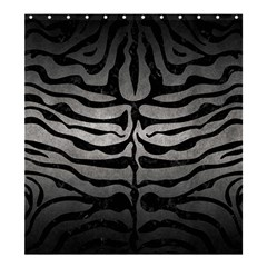 Skin2 Black Marble & Gray Metal 1 (r) Shower Curtain 66  X 72  (large)