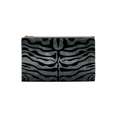Skin2 Black Marble & Gray Metal 1 (r) Cosmetic Bag (small)