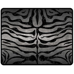 Skin2 Black Marble & Gray Metal 1 (r) Fleece Blanket (medium)