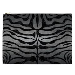 Skin2 Black Marble & Gray Metal 1 (r) Cosmetic Bag (xxl)