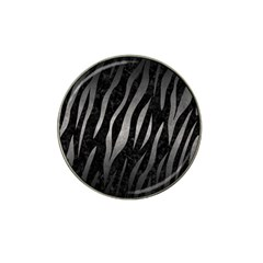Skin3 Black Marble & Gray Metal 1 Hat Clip Ball Marker