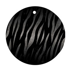 Skin3 Black Marble & Gray Metal 1 Round Ornament (two Sides)