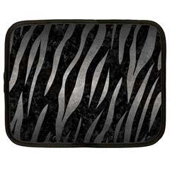 Skin3 Black Marble & Gray Metal 1 Netbook Case (large)