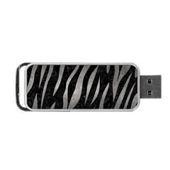 Skin3 Black Marble & Gray Metal 1 Portable Usb Flash (two Sides)