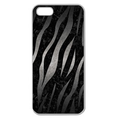 Skin3 Black Marble & Gray Metal 1 Apple Seamless Iphone 5 Case (clear)