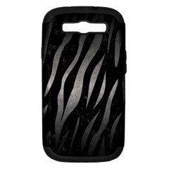 Skin3 Black Marble & Gray Metal 1 Samsung Galaxy S Iii Hardshell Case (pc+silicone)