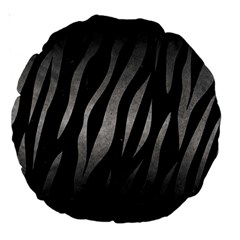 Skin3 Black Marble & Gray Metal 1 Large 18  Premium Round Cushions