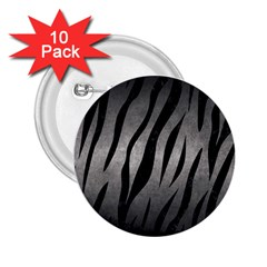 Skin3 Black Marble & Gray Metal 1 (r) 2 25  Buttons (10 Pack)