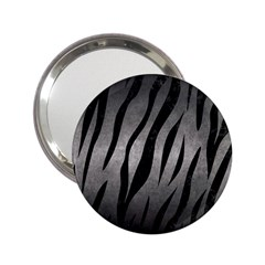 Skin3 Black Marble & Gray Metal 1 (r) 2 25  Handbag Mirrors