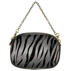 Skin3 Black Marble & Gray Metal 1 (r) Chain Purses (two Sides)