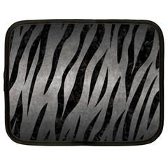 Skin3 Black Marble & Gray Metal 1 (r) Netbook Case (xl)