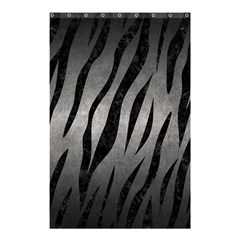 Skin3 Black Marble & Gray Metal 1 (r) Shower Curtain 48  X 72  (small)