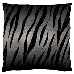 Skin3 Black Marble & Gray Metal 1 (r) Large Cushion Case (one Side)