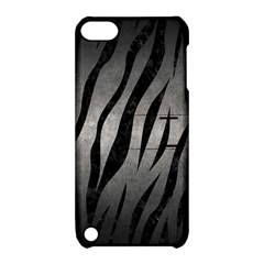 Skin3 Black Marble & Gray Metal 1 (r) Apple Ipod Touch 5 Hardshell Case With Stand