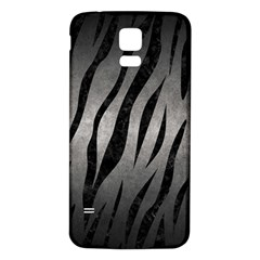Skin3 Black Marble & Gray Metal 1 (r) Samsung Galaxy S5 Back Case (white)