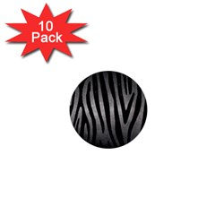 Skin4 Black Marble & Gray Metal 1 1  Mini Buttons (10 Pack)