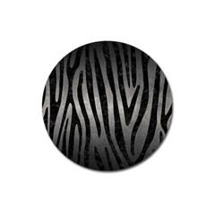 Skin4 Black Marble & Gray Metal 1 Magnet 3  (round)