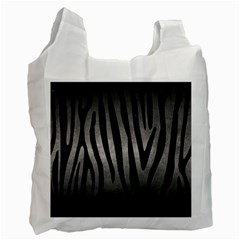 Skin4 Black Marble & Gray Metal 1 Recycle Bag (two Side)