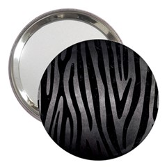 Skin4 Black Marble & Gray Metal 1 3  Handbag Mirrors