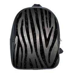 Skin4 Black Marble & Gray Metal 1 School Bag (xl)