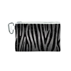 Skin4 Black Marble & Gray Metal 1 Canvas Cosmetic Bag (s)