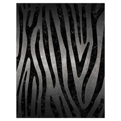Skin4 Black Marble & Gray Metal 1 Drawstring Bag (large)
