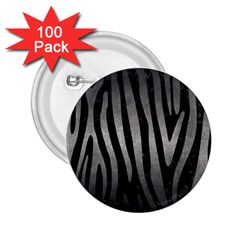 Skin4 Black Marble & Gray Metal 1 (r) 2 25  Buttons (100 Pack)