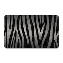 Skin4 Black Marble & Gray Metal 1 (r) Magnet (rectangular)
