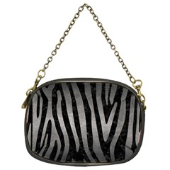 Skin4 Black Marble & Gray Metal 1 (r) Chain Purses (two Sides)