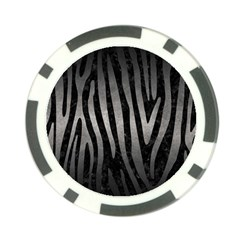 Skin4 Black Marble & Gray Metal 1 (r) Poker Chip Card Guard (10 Pack)