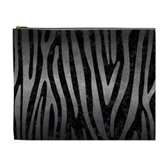Skin4 Black Marble & Gray Metal 1 (r) Cosmetic Bag (xl)