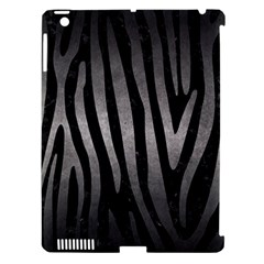 Skin4 Black Marble & Gray Metal 1 (r) Apple Ipad 3/4 Hardshell Case (compatible With Smart Cover)