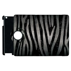 Skin4 Black Marble & Gray Metal 1 (r) Apple Ipad 3/4 Flip 360 Case