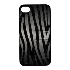 Skin4 Black Marble & Gray Metal 1 (r) Apple Iphone 4/4s Hardshell Case With Stand