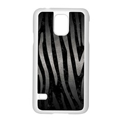 Skin4 Black Marble & Gray Metal 1 (r) Samsung Galaxy S5 Case (white)