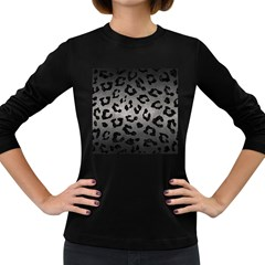 Skin5 Black Marble & Gray Metal 1 Women s Long Sleeve Dark T Shirts