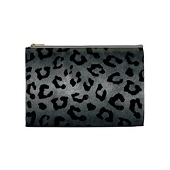 Skin5 Black Marble & Gray Metal 1 Cosmetic Bag (medium)