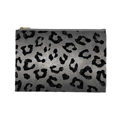 Skin5 Black Marble & Gray Metal 1 Cosmetic Bag (large)
